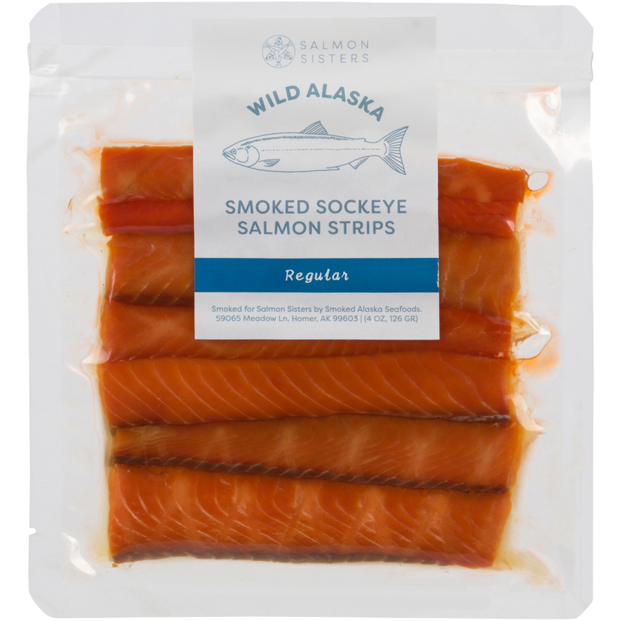 Smoked Sockeye Salmon Strips