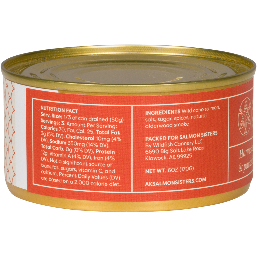 Smoked Tinned Alaska Salmon