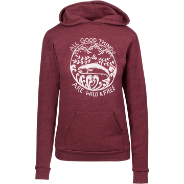 Wild & Free Pullover Hoodie - Berry