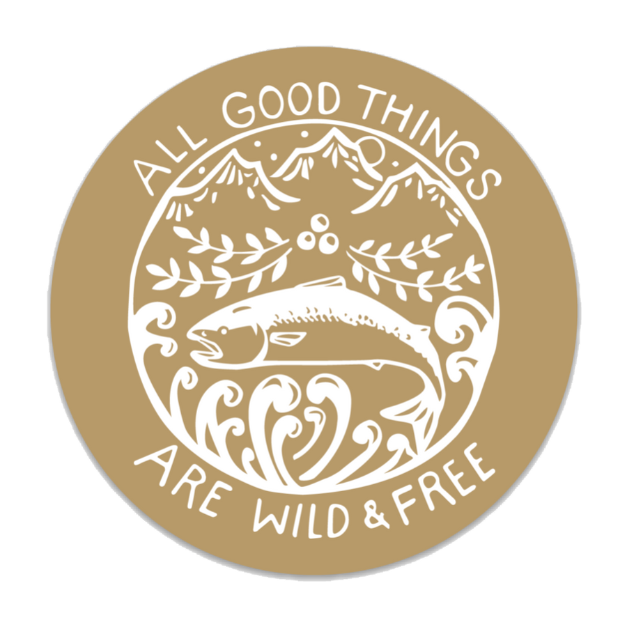 Wild & Free Decal - Gold
