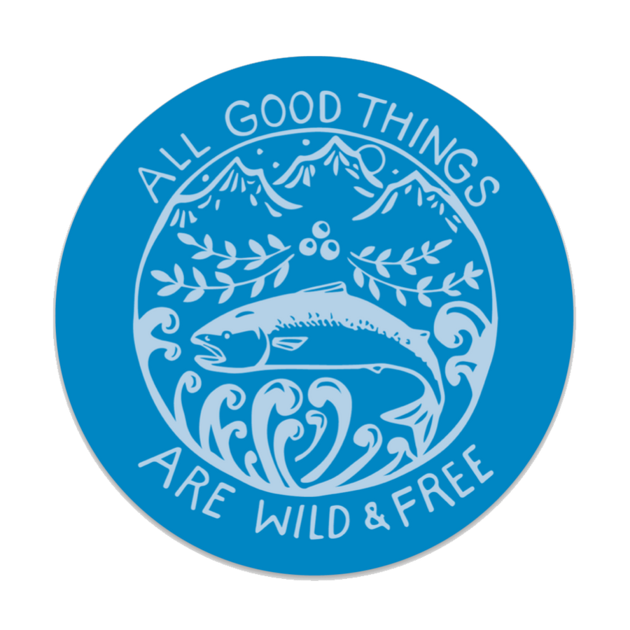 Wild & Free Decal - Blue