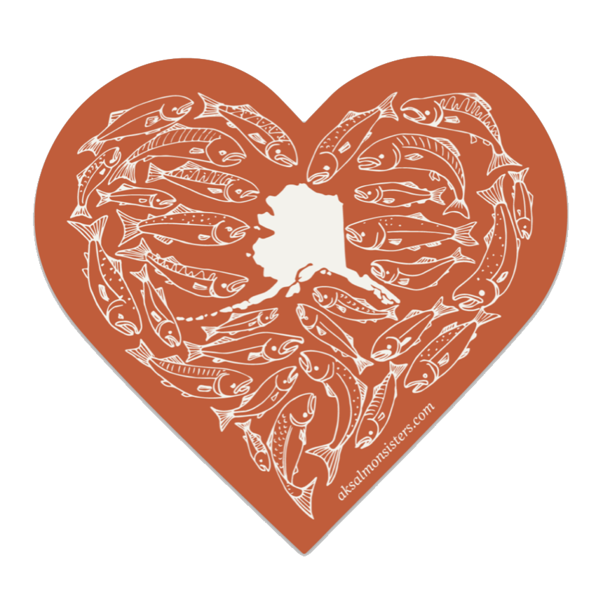 Salmon Love Decal