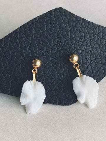 Halibut Otolith Earrings