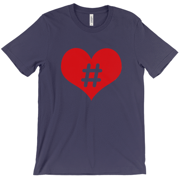 Hashtag Love Tee Shirts