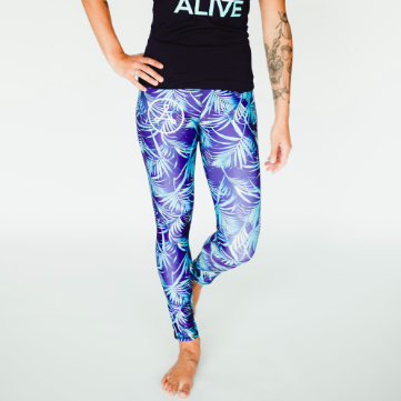 365 Full Length Legging - Electric Palm