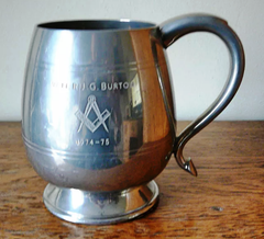 Masonic Pewter I Pint Barrel Tankard - The Happy Masons' Shop