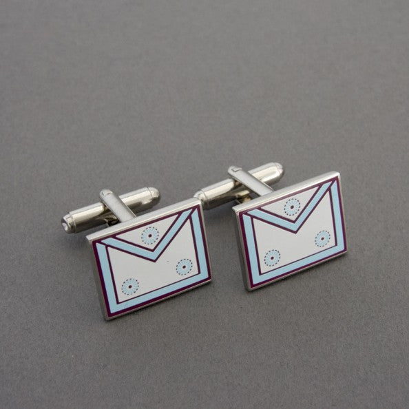 Mark Master Masons Apron Cufflinks - The Happy Masons' Shop