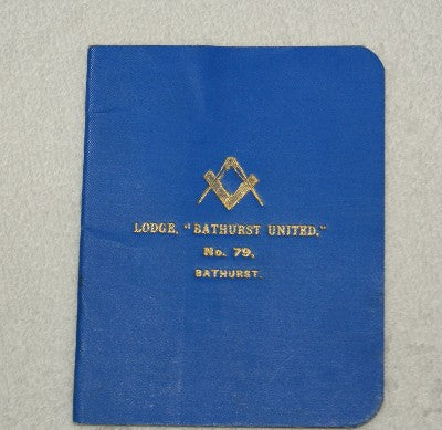 Lodge Bathhurst United No 79. Grand Lodge of NSW By Laws 1905 - The Happy Masons' Shop