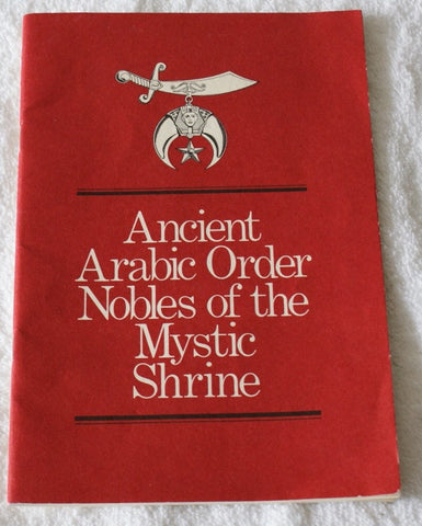 Ancient Arabic Order Nobles Of The Mystic Shrine  1970. - The Happy Masons' Shop