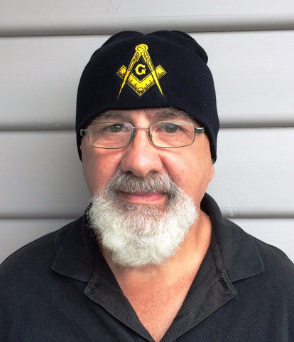 Masonic Beanie  Black / Navy - The Happy Masons' Shop