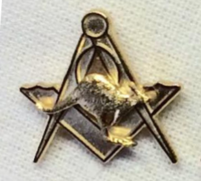 Masonic Gold Plated Lapel Pin with Kangaroo - The Happy Masons' Shop