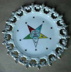 Order Of The  Eastern Star Decorative Cake Plate - The Happy Masons' Shop
