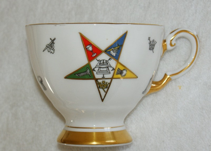 Order Of The  Eastern Star Tuscan Bone China Tea Cup. (Vintage) - The Happy Masons' Shop