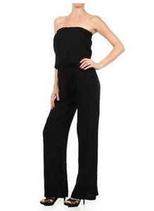Linen Strapless Jumpsuit Sizes Small