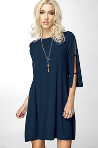 Swing Dress With Cut Out Sleeves