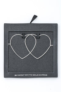 Gold Dipped Heart Hoop Earrings