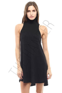 Mocked Neck Mini Dress