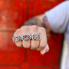 the limited edition power morpher rings from the mighty morphin power rangers jewelry collection