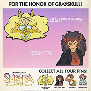Catra as the force captain leader of the horde enamel pin with shera ad