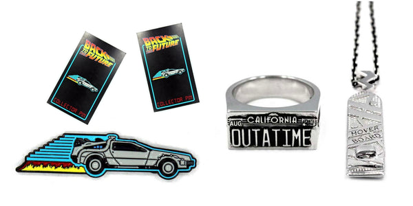 banner of the back to the future jewelry line from han cholo