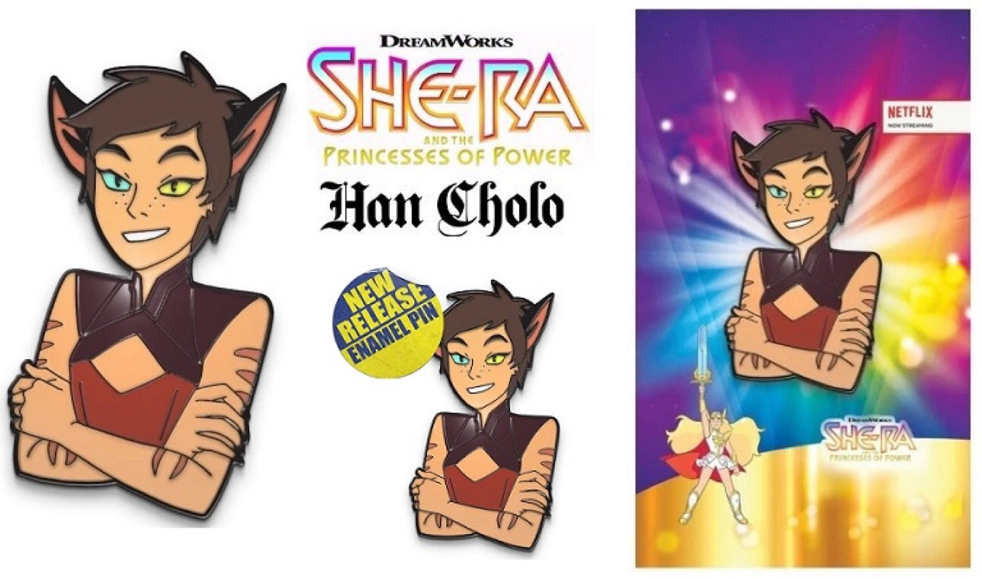 Catra short hair adorable enamel pin with arms crossed