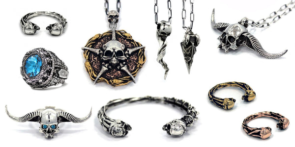 this is the banner of the court of the dead jewelry collection for sideshow collectibles by han cholo