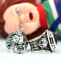 shot of the chucky rings from the han cholo chucky collection