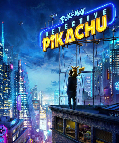 the detective pikachu movie poster for the 2018 movie release