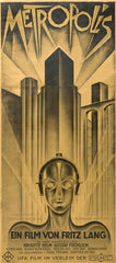 Maria the robot from Metropolis movie poster