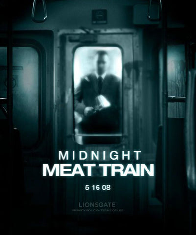 midnight meat train movie poster a clive barker movie starring vinnie jones and bradley cooper