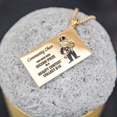 shot of a pendant from the han cholo monopoly jewelry collection