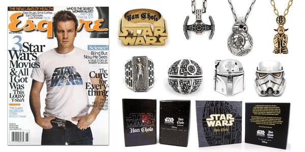 banner of the han cholo star wars line of jewelry