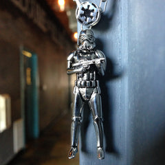 sterling silver stormtrooper pendant from the officially licensed star wars collection
