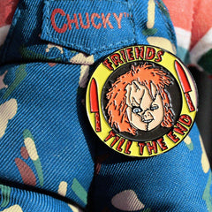 shot of the chucky pin from the han cholo chucky collection