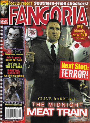 COVER OF THE FANGORIA MAGAZINE THAT WAS FOR THE RELEASE OF MIDNIGHT MEAT TRAIN STARRING VINNIE JONES.