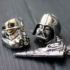 shot of the star wars rings form the officially licensed star wars collection