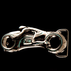 shot of the belt buckle from the han cholo TRON jewelry collection