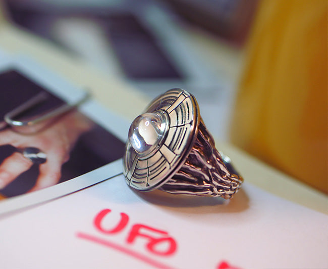 UFO Ring, Unidentified Flying Object, Ancient Aliens, Extra Terrestrial, Top Secret, Metaphysical Jewelry, Space ship, Spacecraft