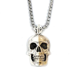2-Tone Skull Pendant Gold/silver Pm Necklaces