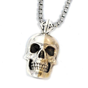2-Tone Skull Pendant Pm Necklaces
