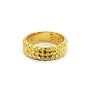 3 Row Spike Ring Gold / 5 Ss Rings