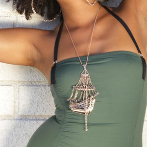 3D Ghost Ship Necklace Ss Necklaces