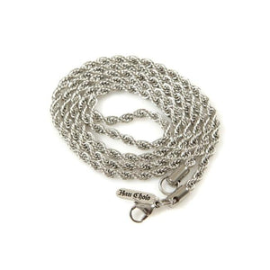 3Mm Stainless Steel Rope Chain Silver Ss Necklaces