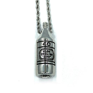 40 Oz Pendant, 40 oz of freedom, 40 oz, olde english 800, han cholo jewelry
