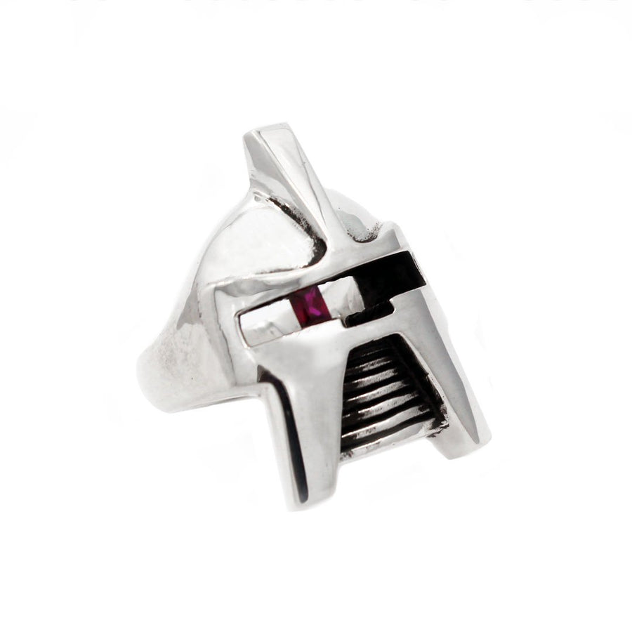 front of the raider ring in silver from the han cholo jewelry collection