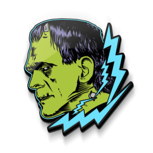 glow in the dark frankenstein monster enamel pin universal monsters