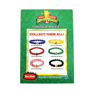 the back of the mighty morphin power rangerrs trading card showing the different bracelets