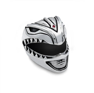 Green Ranger Helmet Ring from the mighty morphin power rangers facing right on a white background