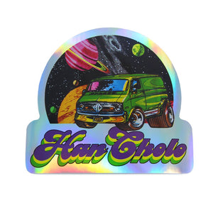 front of the Eat my Space Dust Sticker from the han cholo cruising collection