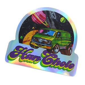 angle of the Eat my Space Dust Sticker from the han cholo cruising collection